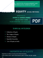 Rules of Equity (Legal Method)