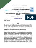 Portfolio Optimization Using Particle Swarm Optimization