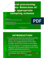 Mineral Processing Circuits- Detection of the Appropriate Sampling Scheme