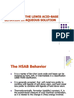 3b-Pattern in the Lewis Acid Base Behaviour in Aquoeous Solution