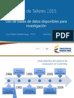 Manejo de Base de Datos 2015