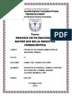 Ciencias de La Salud - Proceso de Filtracion de Mayor Uso en La Industria Farmaceutica