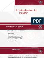 Unit 5 - Working With XAMPP