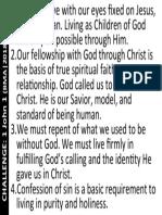 Challenge on 1 John 1