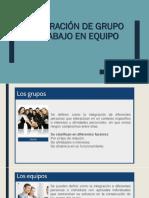 Integración de Grupo y Trabajo en Equipo