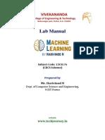 ML Lab Manual