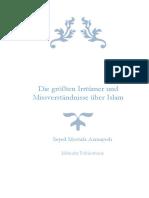 Irrtümer und Missverständnisse zu Islam
