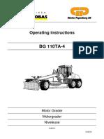 Instruktsiya Po Ekspluatatsii BG 110TA 4