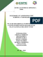 Plan de Desarrollo Turístico en El Cantón de Puerto Quito