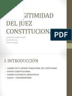 legitimidad juez constitucional