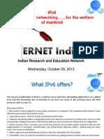 2013 10 ERNET IPv6 Presentation Himanchal