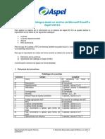 Importacion de Catalogos Desde Un Archivo de Excel