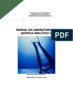 Manual de Laboratorio de Quimica Analitica II