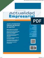 Actualidad Empresarial 1ra Quincena de Abril 2018