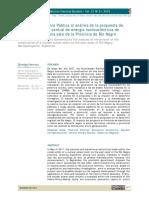 Aportes de Economía Pública al análisis de la propuesta de la instalación de una central de energía nucleoelectrica de potencia en la costa este de la Provincia de Río Negro