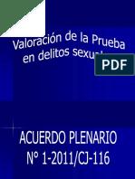 VALORACIÓN DE PRUEBAS EN DELITOS SEXUALES