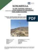 Informe Por Adicional de Cadenas de Aisladores de SET