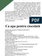 Laura Esquivel - CA Apa Pentru Ciocolata