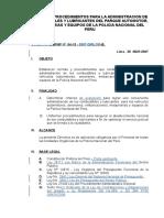 DIRECTIVA Nº 04-13-2007-DGPNP-DIRLOG-B