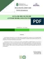 Guia de diluição de antimicrobianos em pediatria