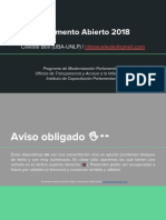 Parlamento Abierto (HCDN, 2018) Eje II