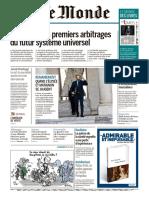 Journal LE MONDE Et Suppl Du Vendredi 12 Octobre 2018