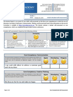 Grade 1 - Interim Self Assessment (Core Competencies) - Template (Fill-Able)