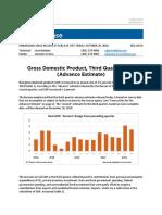 BEA 3rd Quarter GDP 2018