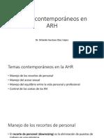 3.4. Temas Contemporáneos en ARH