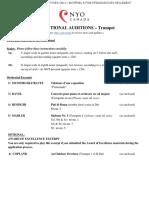 2019 Trumpet Audition Packet En