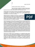 Comunicado Del Provincial de Venezuela y El Presidente de La CPAL