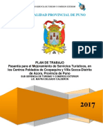 PLAN PASANTIA Villa Soccay Ccopaquira