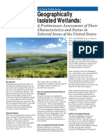 Geographically Isolated Wetlands a Preliminary Assessment of Their Characteristics and Status in Selected Areas of the United States Fact Sheet