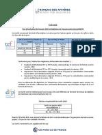 Fiche Tarifs Tef Et Dfp 2018