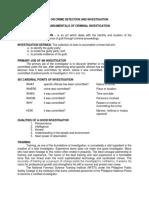 (Cdi 1) Fundamentals of Criminal Investigation