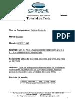 Tutorial Teste Rele Pextron URPE 7104T Sobrecorrente de NEUTRO CTC