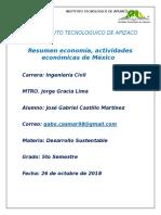 Resumen Economia, Actividades Economicas de Mexico
