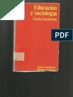 Educacion y Sociologia Emile Durkheim