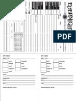 Alternate Character Sheet & NPC Cards