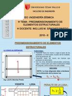 Sesión 3 Predimensionamiento de Elementos Estructurales