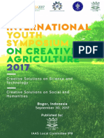 Proceeding of the 2nd International Youth Symposium on Creative Agriculture, Bogor, 2017