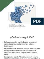 Unidad 1 Psicologia Cognitiva 2016