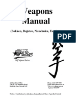 Weapons Manual - Bokken, Bojutsu, Nunchuku, Escrima
