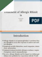 Treatment of Allergic Rhinitis