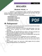 Malaria Summary Notes