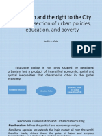Education and the Right to the City