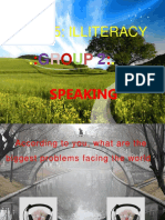 Unit 5 Illiteracy Speaking