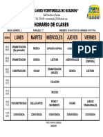 Horario de Clases Planificacion Diaria INICIAL 1