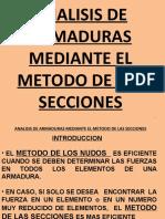 Clase 22a Analisis de Armaduras Mediante El Metodo de Las Secciones