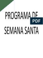 Programa de Semana Santa